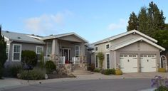 manufactured home with garage.