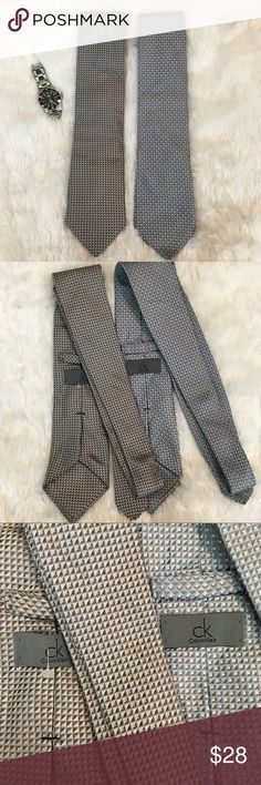 Bundle of 2 Calvin Klein 100% Silk Ties Bundle of 2 Calvin Klein Silk Ties. Both are brand new with price tags, same pattern, one is blue, other is shades of grey/Black. ❌NO TRADES❌NO LOWBALLING ❌NO MODELING ❌ Calvin Klein Accessories Ties
