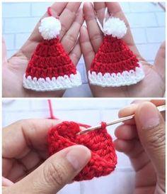 Crochet Christmas Wreath, Crochet Christmas Decorations, Crochet Ornaments, Christmas Crochet Patterns, Holiday Crochet, Christmas Knitting, Crochet Christmas Stockings, Christmas Bells, Crochet Santa Hat