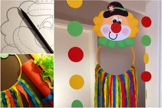 A clown to tinker and play - come to us at Buntpapierwelt. Le Clown, Decorate Notebook, Paper Crafts For Kids, School Holidays, Creative Kids, Birthday Party Themes, Anniversary Gifts, Seed Beads, Art For Kids