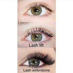 "Here is an awesome comparison photo posted by @xtremelasheslb of lash lifts vs extensions. Both carry pros and cons but both will make your eyes pop! Lifts are a perm of your natural lash which give you up to 6 weeks of lovely maintenance-free curl. A lift will not give you volume or length nor the ""cat-eye"" look everyone wants. They can also grow out kinked. Extensions attach individual lashes to your natural lash to give you thicker & longer lashes but involve maintenance with fills every…"