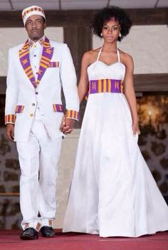 Affordable wedding gowns, maternity bridal dresses, african wedding clothing including veils and headpieces, bouquets and jewelry by TeKay Designs African Wedding Attire, African Attire, African Wear, African Dress, Ethiopian Wedding, Moda Afro, Traditional African Clothing, African American Weddings, Bridal And Formal