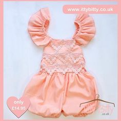Just Added... —  Itty Bitty Pink Summer Romper only £14.95