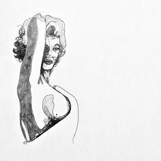 Marilyn Monroe, ink and Copic markers. JacobThomas.