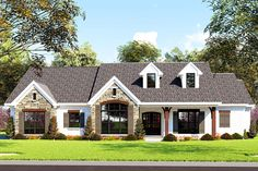 Plan 3 Bed Country Home Plan With Large Grilling Porch Best House Plans, Country House Plans, Simple Ranch House Plans, Farmhouse Design, Farmhouse Style, Modern Farmhouse Plans, Farmhouse Kitchens, Rustic Farmhouse, Porch Plans