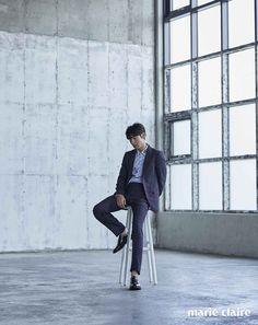 Lee Je Hoon - July issue of Marie Claire Tomorrow With You, Lee Je Hoon, Joon Hyuk, Korean Actors, Kdrama, Beautiful People, Normcore, Photoshoot, Celebrities