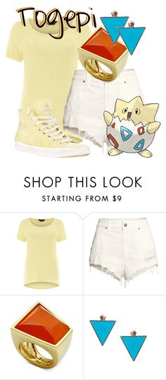 """""""Togepi from Pokémon"""" by likeghostsinthesnow ❤ liked on Polyvore featuring Dorothy Perkins, H&M, Glitterrings, ASOS and LEATHER CROWN"""