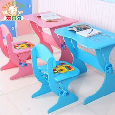 Adjustable height  Chilren study desk writing desk  Laptop desk with chair