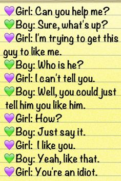 Image detail for -funny, dialogue, sayings, girl, boy, unrequited love | Inspirational ...