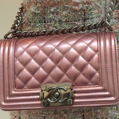 CHANEL Boy metallic Medium #bag Contact me to Shop&ship it for YOU and deliver at your place.