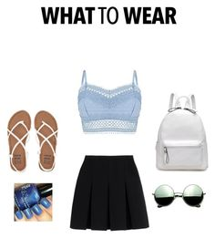 """""""What to wear"""" by libbystyle ❤ liked on Polyvore featuring Lipsy, Alexander Wang, Billabong and Revo"""