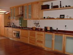 Solid ash and mahogany kitchen!