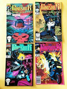 PUNISHER War Journal Marvel Comic Vol 1 No 21, 23, 29, 30 Aug  -  May 1990-91 VG Punisher War Journal, Marvel Comics, 21st, October, Comic Books, Handmade, Ebay, Hand Made, Cartoons