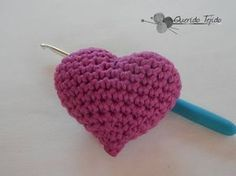 Corazón de San Valentín tejidos en crochet - YouTube