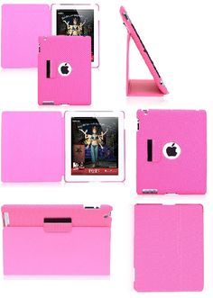 50% Discount Leather iPad 2 Smart Cases, Pink Back Cover Case for iPad 2, iPad 3, iPad 4 www.cellz.com $12.45 #iphone4 #50%discount #cases #promotional #cheap #price #clearance #sale #free #shipping #best #iphone #cases