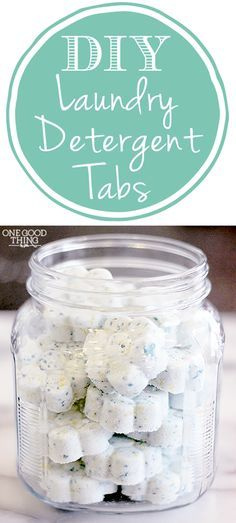 The convenience of detergent tabs without the high price tag! Super simple to make! DIY Homemade Laundry Detergent Tabs | One Good Thing By Jillee