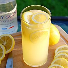 This Lucky Lemon Seven cocktail is a combination of the juices of muddled lemons, 7Up and Grey Goose Vodka!
