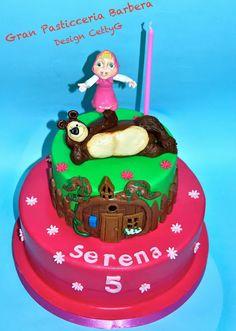 Le torte decorate di CettyG...: Masha e Orso cake....