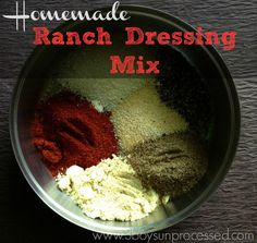 This recipe is simple and easy! Mix the spices together, then mix it with sour cream and milk to make homemade ranch dressing. It can also be used asa dry rub, or seasoning for potatoes or veggies. A versatile and delicious mix of spices! Here is what to mix for the dressing: 1/2 tsp ranch...Read More »
