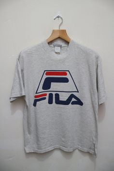 Vintage FILA Moda Nella Vita Sportiva Tee T Shirt Size L by VintageClothingMall on Etsy
