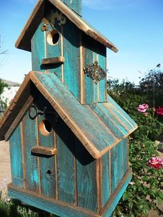 Image result for rustic birdhouses