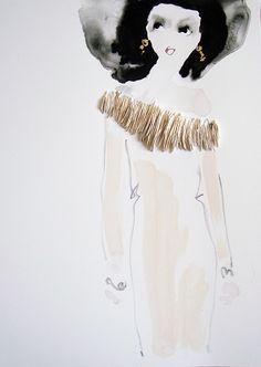 ruffle neck by Bridget Davies