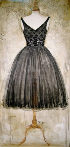 More art by Andrea Stajan-Ferkul, gorgeous.  I love the light in the background surrounding the edges of the dress. the textured background is wonderful too