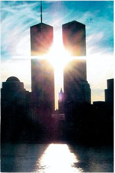 Jesus shining on the World Trade Centers <3