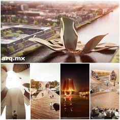 """Puente peatonal versátil """"Versatile Tulip Pedestrian Bridge"""" corresponde a una propuesta desarrollada por la oficina francesa MLBS Architects, para un puente peatonal en la ciudad de Ámsterdam, Holanda. #arquitectura #puente http://noticias.arq.com.mx/Detalles/15692.html"""