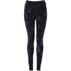black velvet leggings