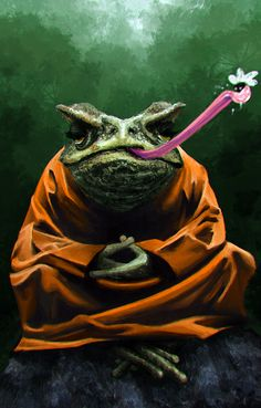 Toad monk by Odrobinka.deviantart.com on @DeviantArt