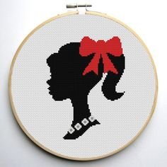 (10) Name: 'Embroidery : Barbie Cross Stitch Pattern