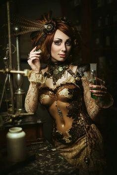 Steampunkopath — steampunktendencies:     Model - Katrin Lanfire,...