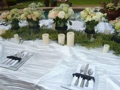 table set up for my sons prom