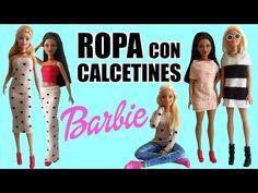 Cómo hacer Ropa para tu muñeca Barbie con Calcetines. Vestido, Falda, Jersey... ¡Muy Fácil! - YouTube