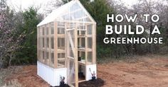 This greenhouse is a relatively simple design and is a great project if you're jusr getting started with construction materials and framing. Framed completely f…