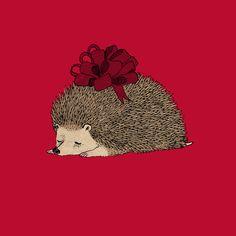 Happy Hedgehog Day Art Print by katphilbin | Society6