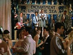 Nautical theme prom! Can you name the movie where this picture is from? Hint: The main character is about to shred 80s style at a 1850s prom ;)