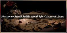 Makam ve Mevki Sahibi olmak için Okunacak Esma Movies, Movie Posters, Films, Film Poster, Cinema, Movie, Film, Movie Quotes, Movie Theater