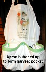 I love this harvest apron- too bad I don't sew. I'll have to get my mom to make one :)