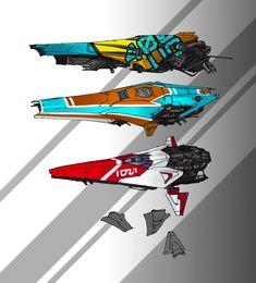 Racing ships, Lawrence van der merwe on ArtStation at… Concept Ships, Game Concept Art, Concept Cars, Spaceship Art, Spaceship Design, Futuristic Motorcycle, Futuristic Cars, Sci Fi Spaceships, Space Games