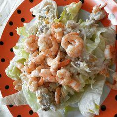 Waldorf salad with shrimp