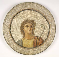 Mosaic of a male figure by an unknown artist found in Tunis, Tunisia, ca. 100-200 c.e.