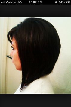 May a cut like this. Just needs to grow a few more inches. a-line bob haircut...I thinki I want mine like this
