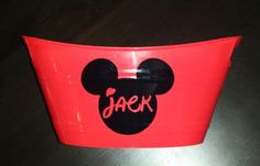 Personalized Mickey Mouse Bucket/Basket/Tub