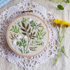 'Green Leaves' Embroidery design is a 'Do It Yourself' project. It can be fun and easy to be creative, just follow...