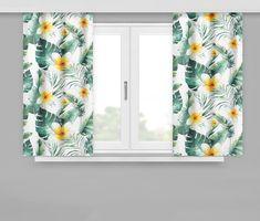Závěsy s květinovým vzorem Curtains, Shower, Prints, Rain Shower Heads, Blinds, Showers, Draping, Picture Window Treatments, Window Treatments