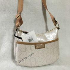 Calvin Klein H3dej1ge Ck Logo Cream Camel Cross Body Bag on Sale, 39% Off   Cross Body Bags on Sale at Tradesy