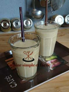 Milk shake banane - confiture de lait