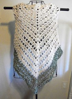 Ivy Lace Knitting Pattern : Crocheted Granny Triangular Shawl.....Super Simple! - creative jewish mom C...